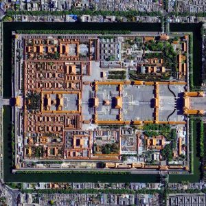 bird's eye view of forbidden city